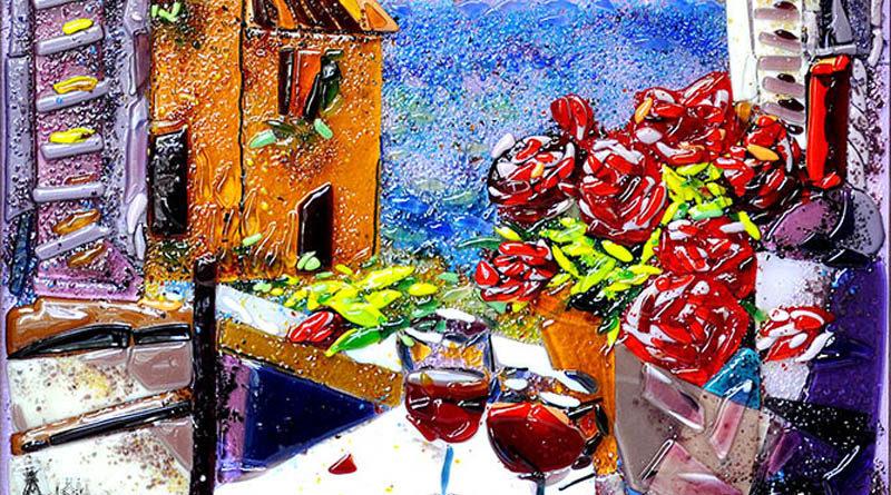 Картины из стекла